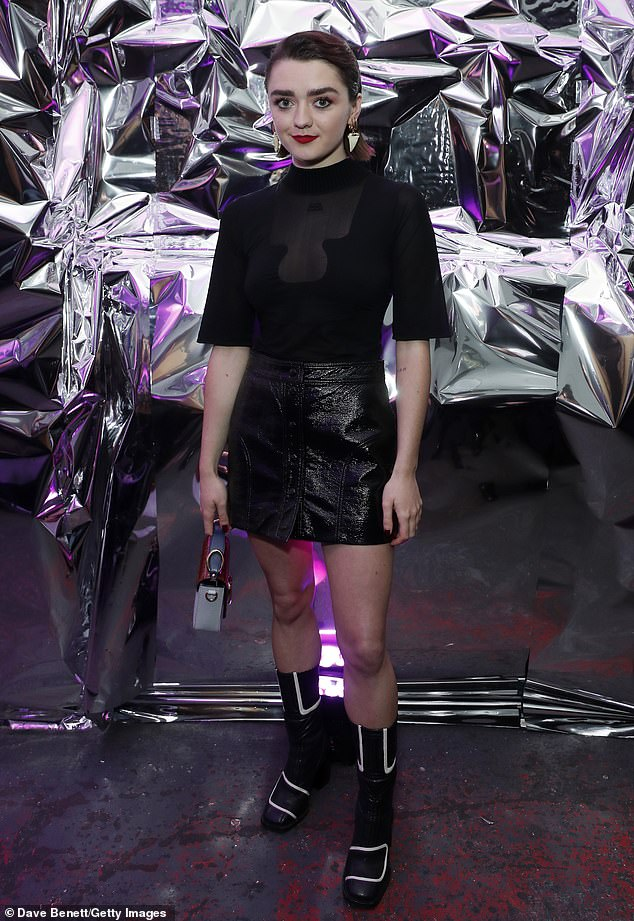 Maisie Williams opts for sheer top for LOVE Magazine bash