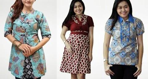Model Baju Batik Wanita Gemuk Modern Terbaru