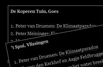 Boekhandel, top 5, Spui Vlissingen, Koperen tuin Goes, De Klimaatparadox, Peter van Druenen