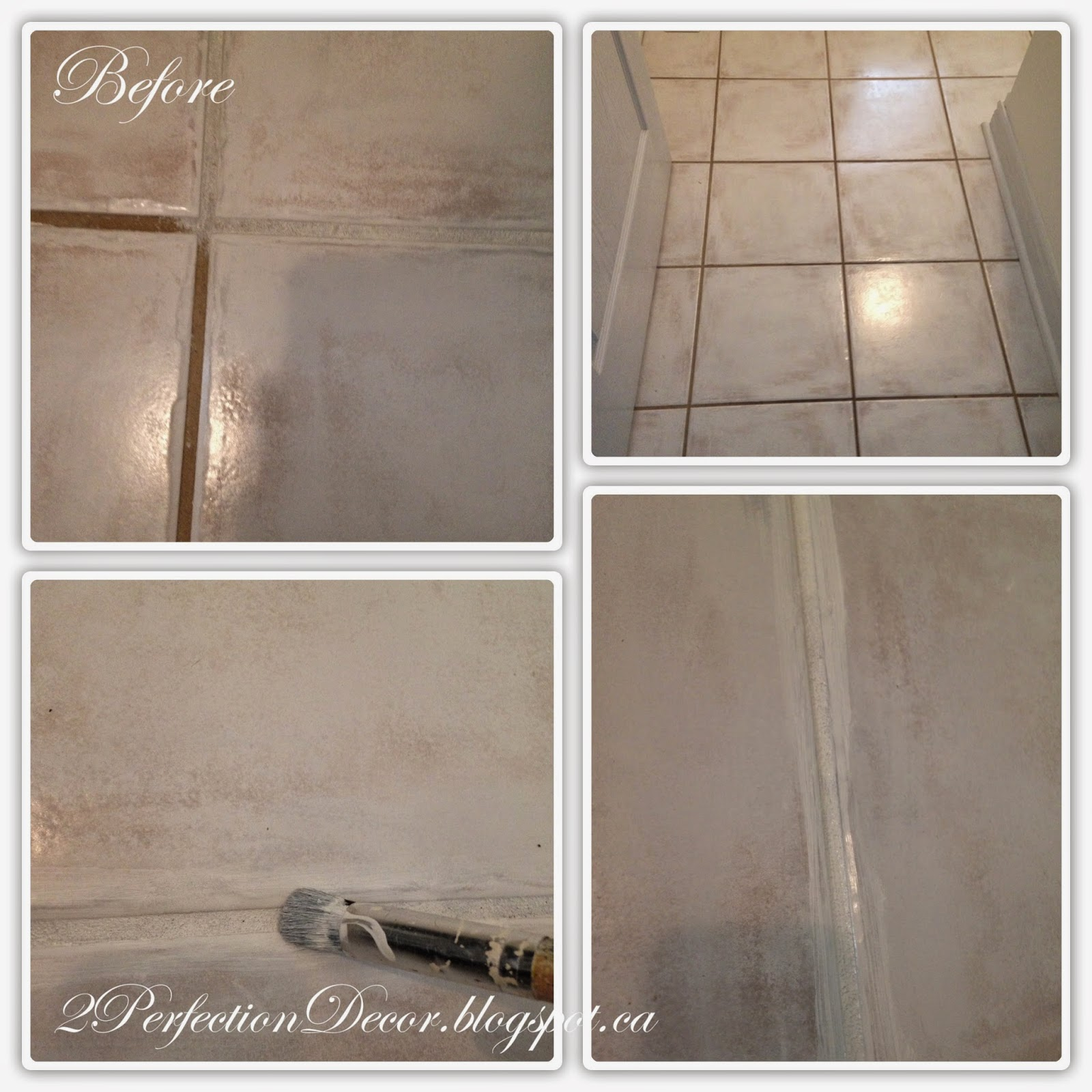 2perfection Decor How To Paint Dark Grout White