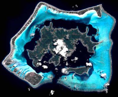 Bora Bora vista satélite