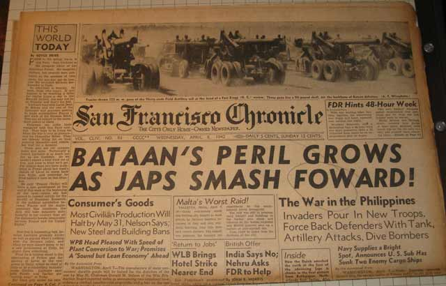 San Francisco Chronicle, 8 April 1942 worldwartwo.filminspector.com