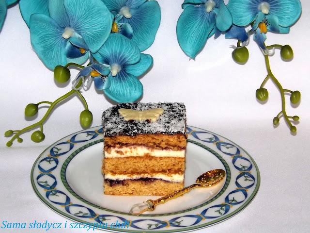 Stefanka , ciasto miodowe z grysikiem .