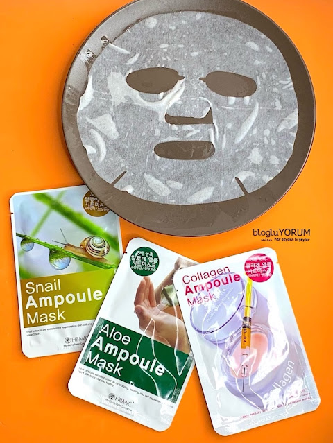 hbmic collagen ampoule mask kolajen maske kullananlar