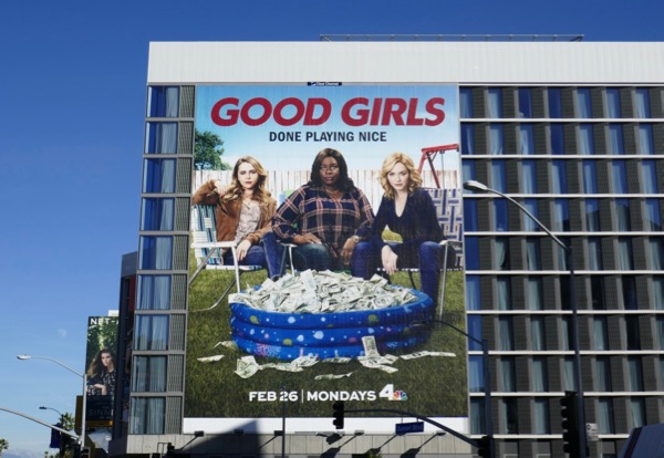 Giant Good Girls series launch billboard