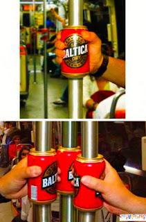 beer guerilla marketing advertising