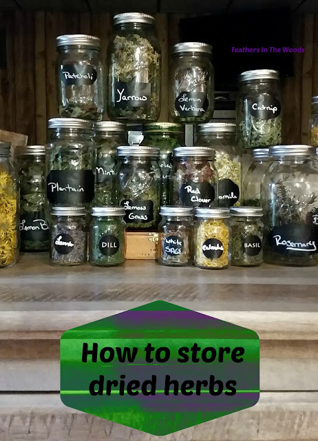 Best way to store dried herbs
