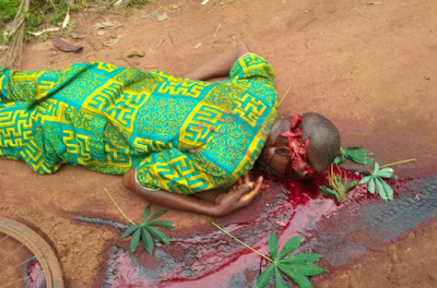 GRAPHIC PHOTOS: Unknown Men Hack A 55-year-old Man To Death In Imo