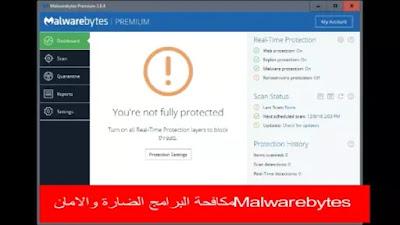 Malwarebytes مكافحة البرامج الضارة والامان