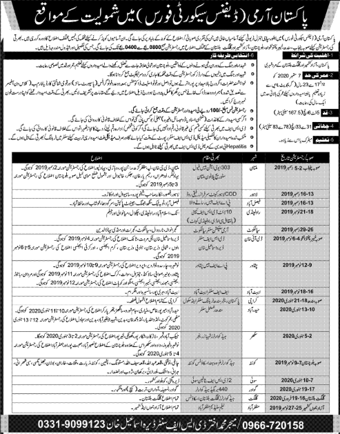 Join Pak Army Defence Security Force Jobs 2019 | 1000+ Vacancies General Duty Pak Army