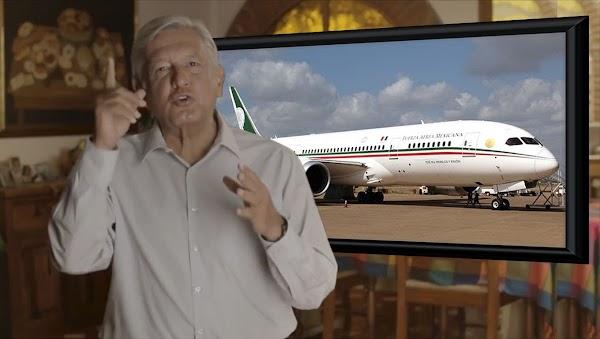 Dice AMLO que venderá a Trump el avión presidencial de EPN.