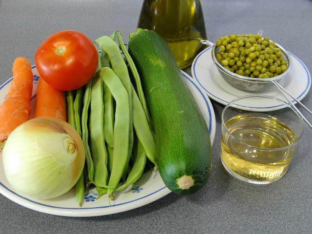 Menestra de verduras frescas