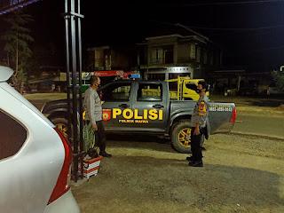 Menemalisir Kejahatan Malam Hari, Personel Polsek Maiwa Polres Enrekang Laksanakan Patroli Malam