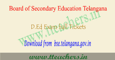 TS D.Ed 1st year hall tickets 2019, ded results Telangana