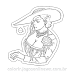 Lady Dimitrescu Resident Evil Village RE8 Sticker para Colorir