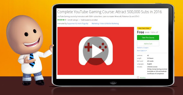 [100% Off] Complete YouTube Gaming Course: Attract 500,000 Subs in 2016| Worth 195$