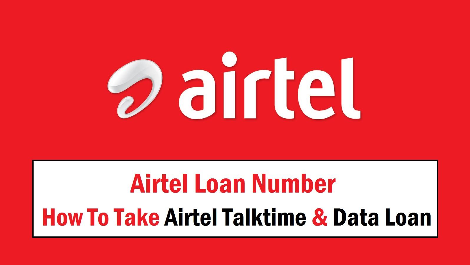 How to Take Airtel Talktime & Data Loan