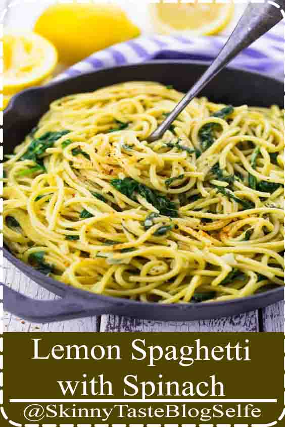4.7 | ★★★★★ These lemon spaghetti with spinach are the perfect recipe for busy weeknights! It s a one pot meal, super delicious, comforting, and 100  vegan!#LemonSpaghetti #Spinach #delicious