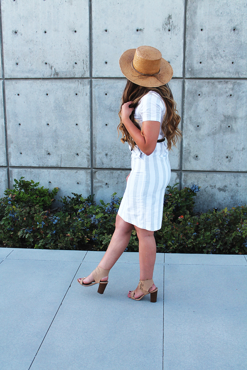 striped, summer dress, style blogger