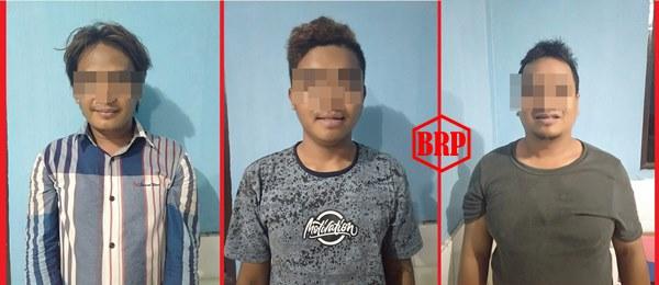 Polsek Banua Lima Jajaran Polres Bartim Tangkap Tiga Budak Sabu