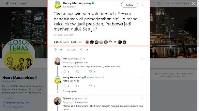 Prabowo Diramal Jadi Menhan Sejak 2014, Cuitan Lawas Penulis Ini Viral Lagi