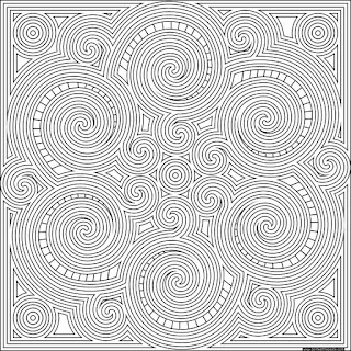 Swirl mandala to print and color- available in jpg and transparent png formats