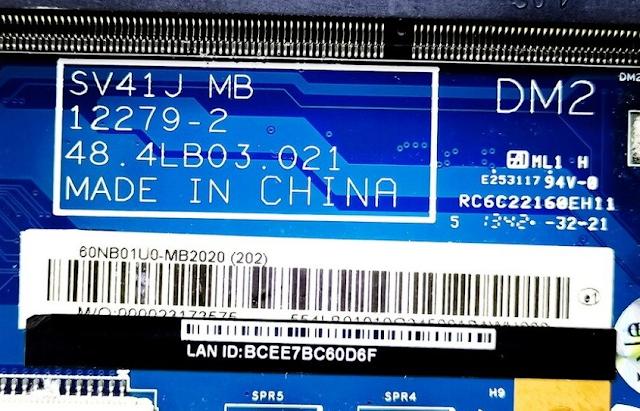 Asus F450J SV41J Mainboard 12279-2 Laptop Bios