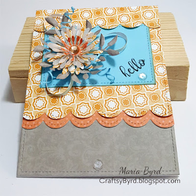Spellbinders Bloom Hello Card by Maria Byrd at CraftsyByrd.blogspot.com