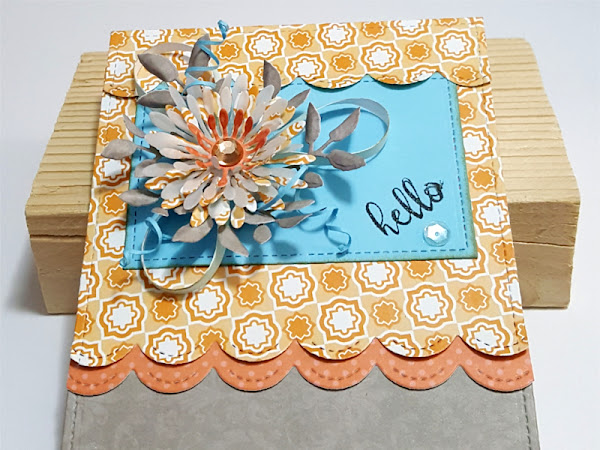 Spellbinders + DCWV: Bloom Hello Card