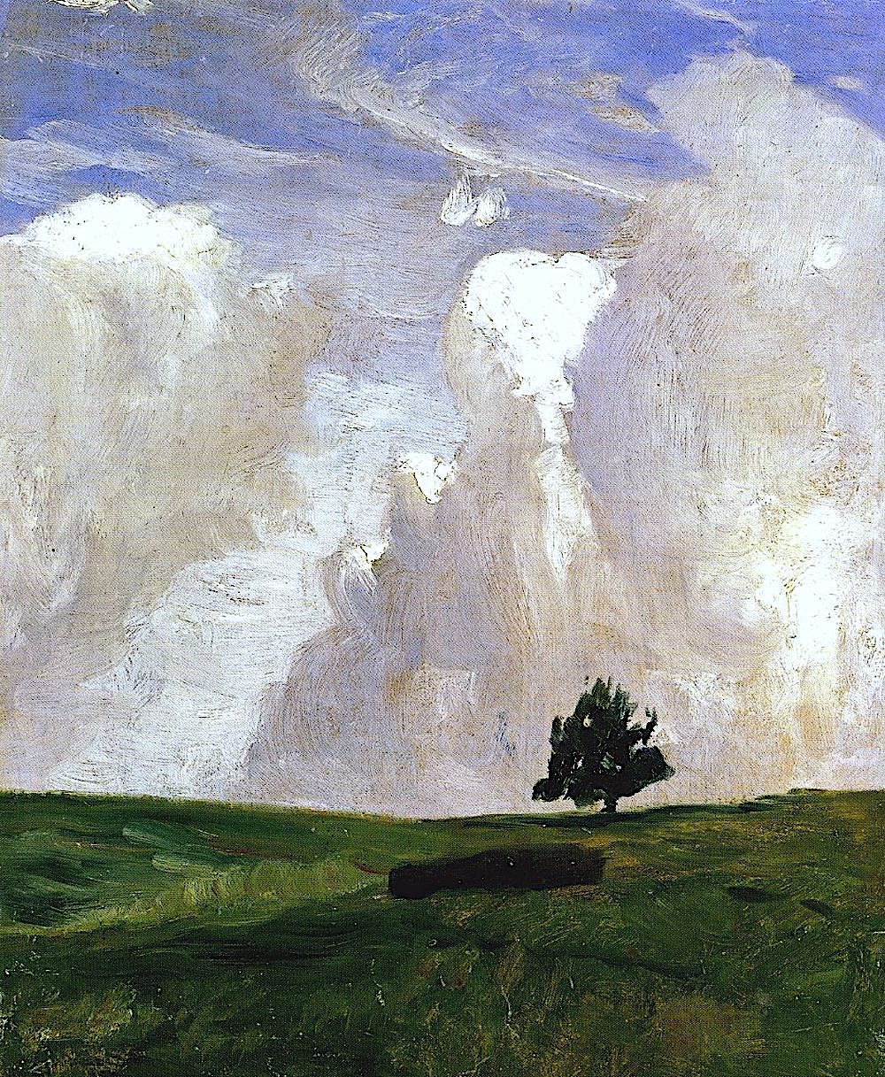 Otto Modersohn 1900s art, a tree