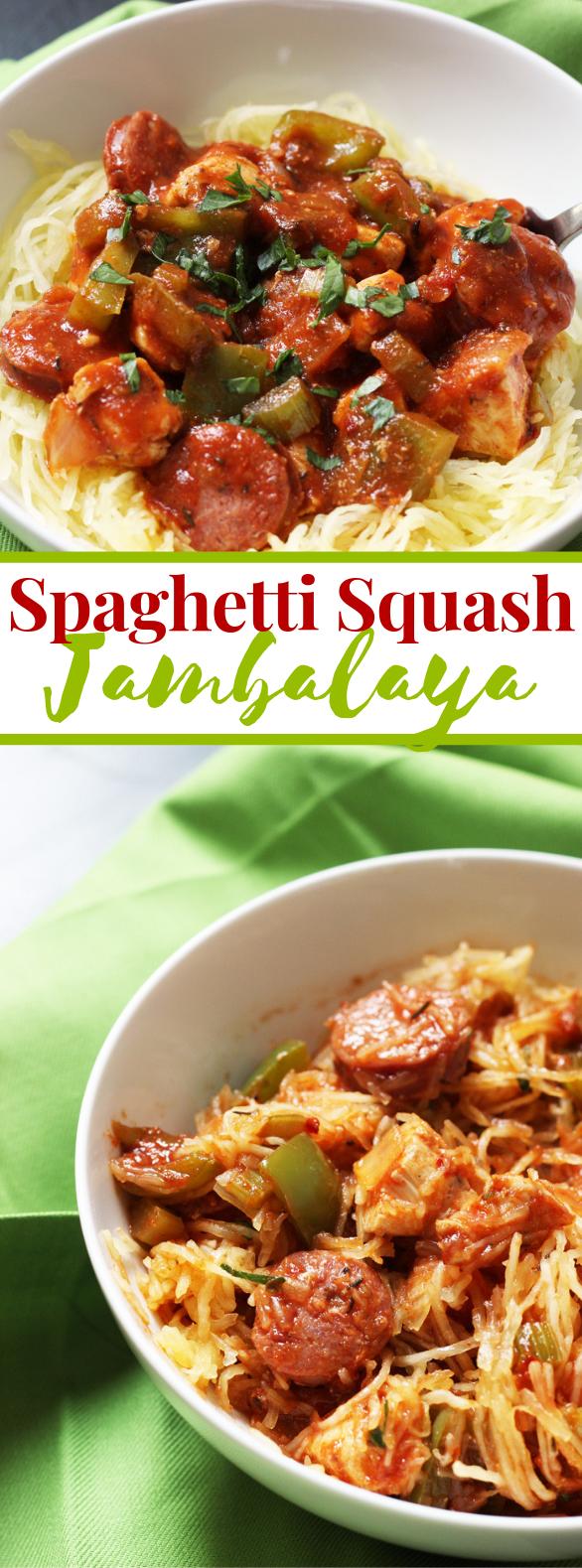Spaghetti Squash Jambalaya #lowcarb #paleo