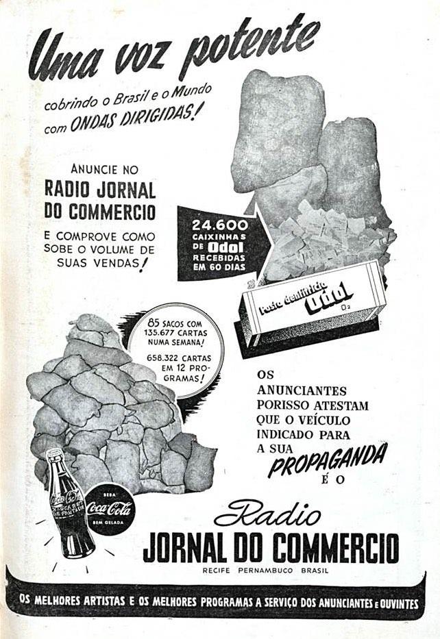 Propaganda antiga da Rádio Jornal do Comércio veiculada em 1951