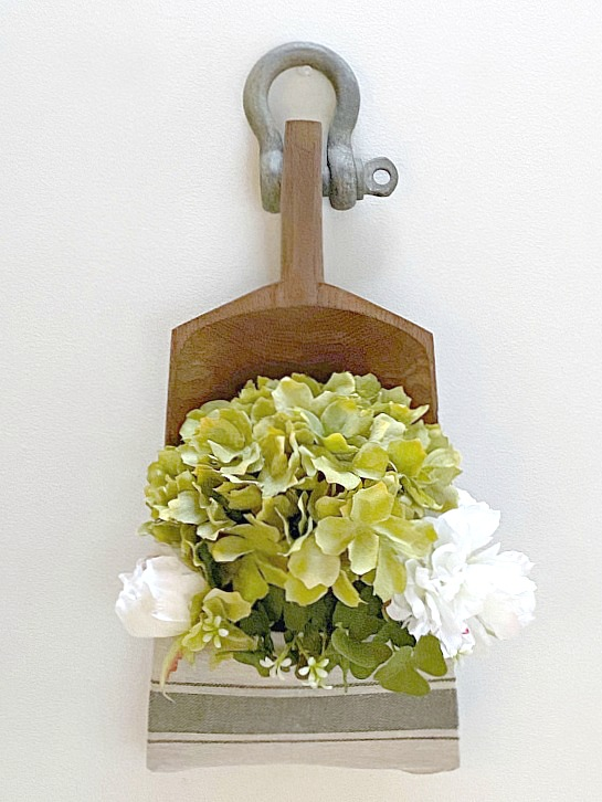 Farmhouse Style Wall Pocket with flowers