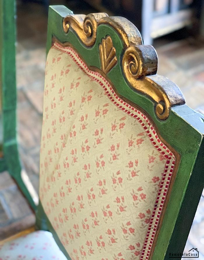 detail green chair