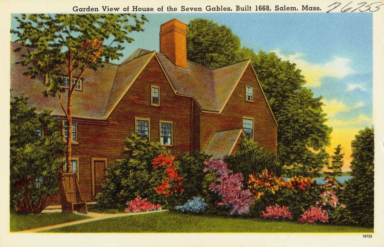 Garden view of House of the Seven Gables