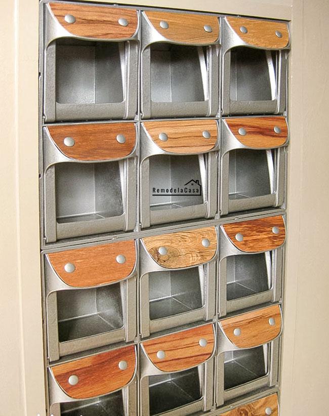 Kids room organization - In between the studs storage