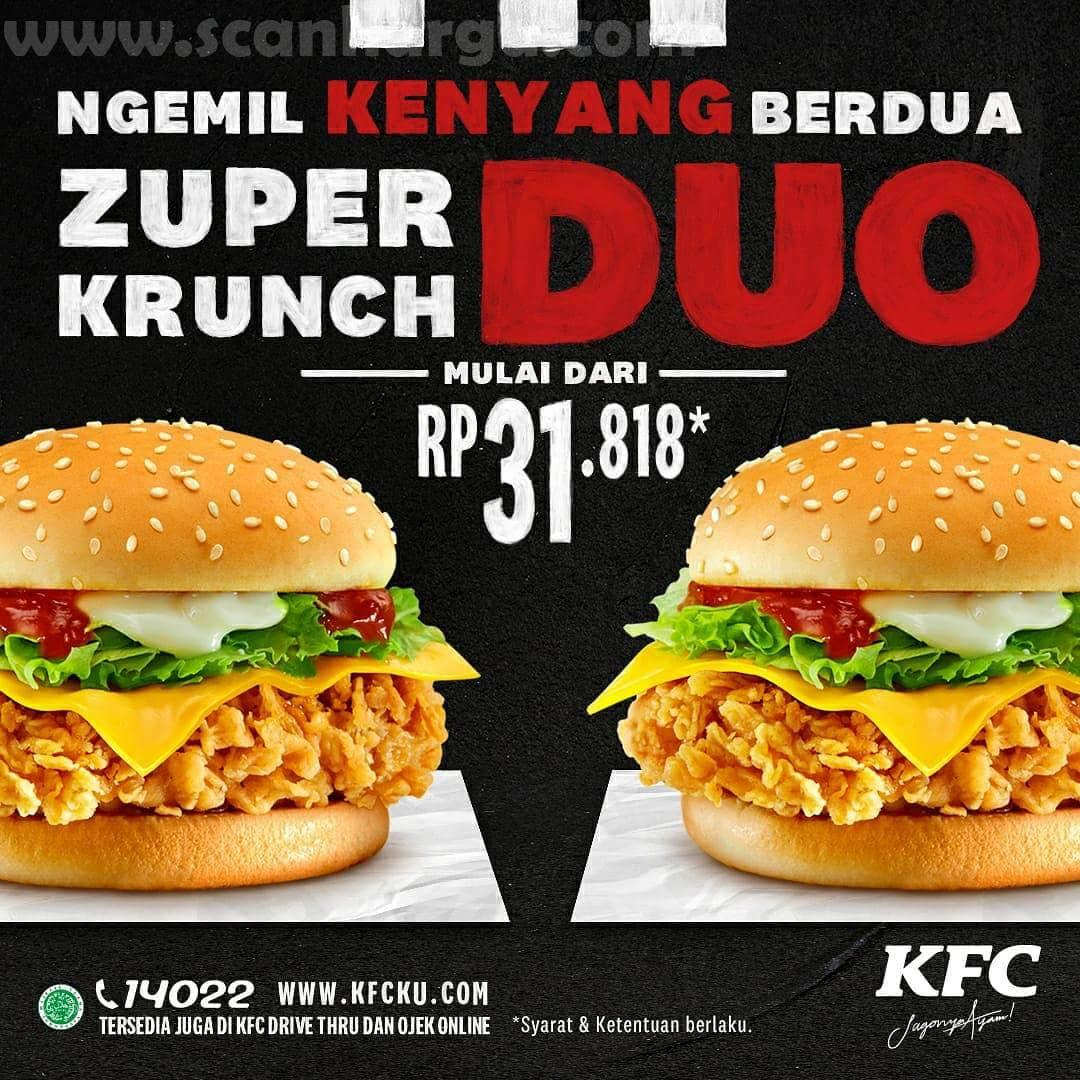 Promo KFC Zupper Krunch Duo Harga mulai dari Rp 31.818,-