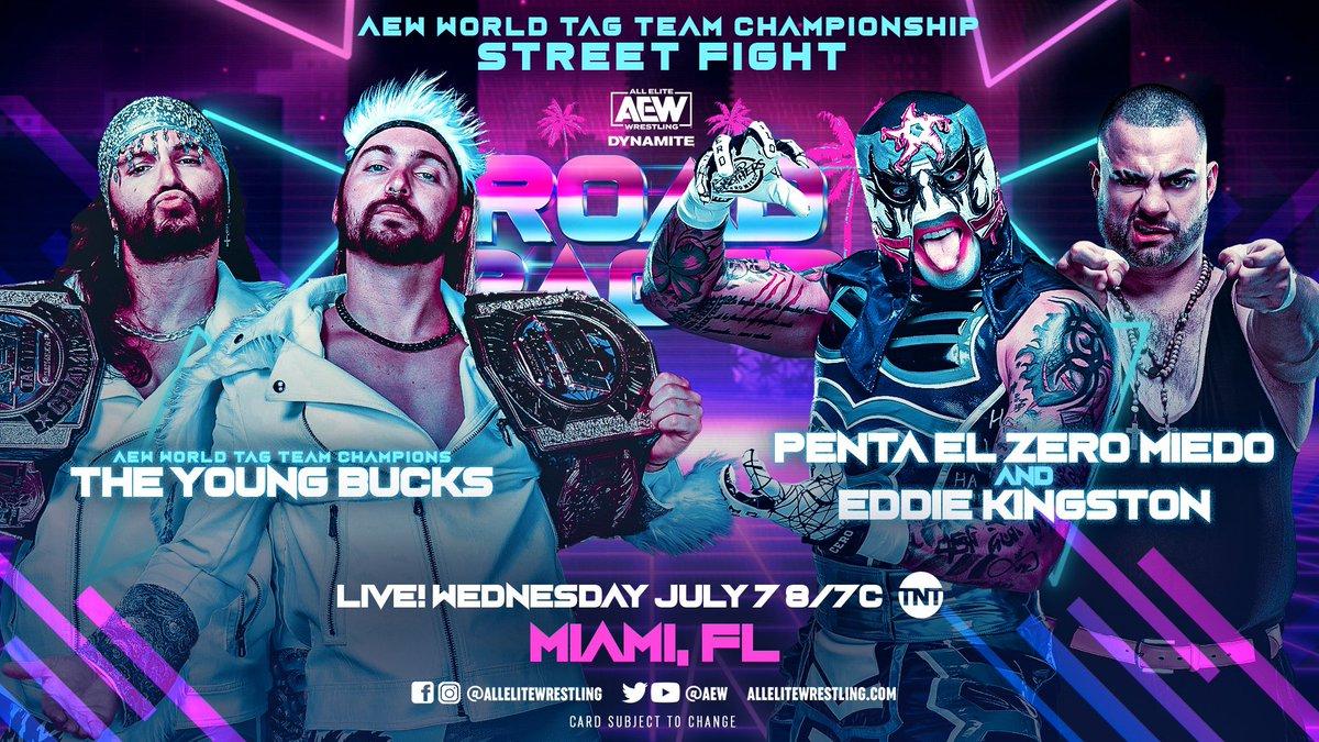 Luta pelo AEW World Tag Team Championship será uma Street Fight