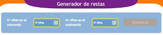 GENRADOR DE RESTAS