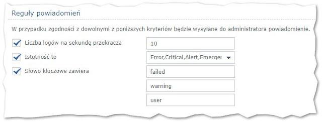 Moje ustawienia powiadomień w Synology RT2600ac