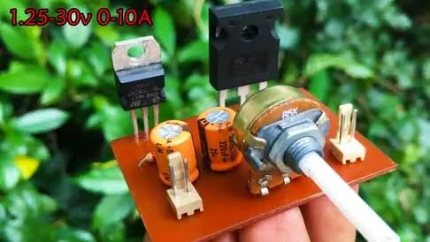 high current dc power supply using lm317