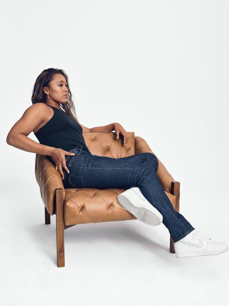 Tennis star Naomi Osaka stars in Levi's 501 Originals campaign.