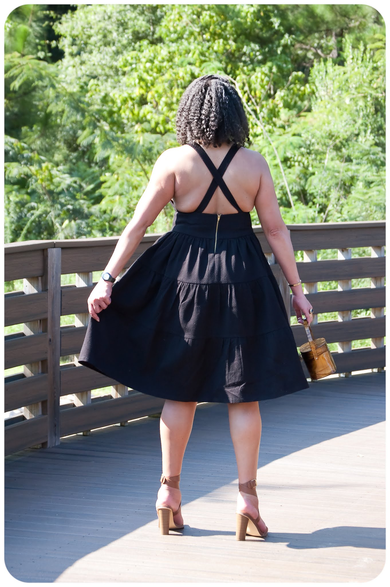 Black Tiered Crossback Sundress - Erica Bunker DIY Style!