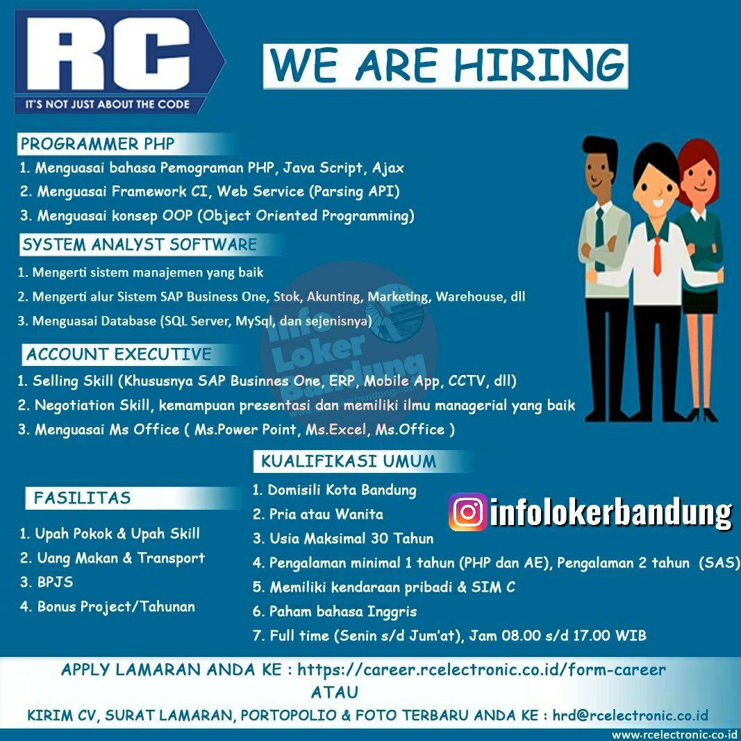 Lowongan Kerja RC Electronic Bandung Juli 2019