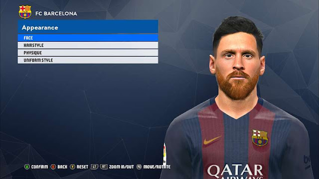 New Face Leo Messi PES 2017