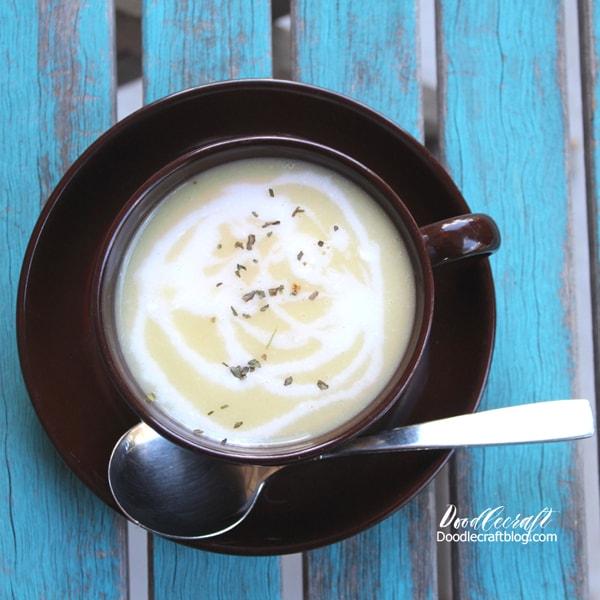 Plant based summer squash puree soup