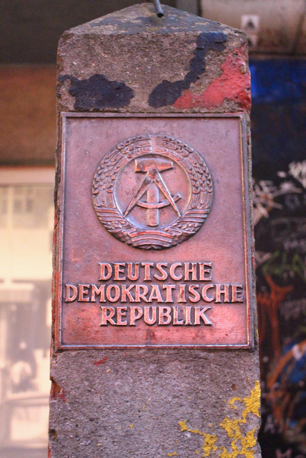 Deutsche Demokratische Republik sign in Berlin - travel & lifestyle blog