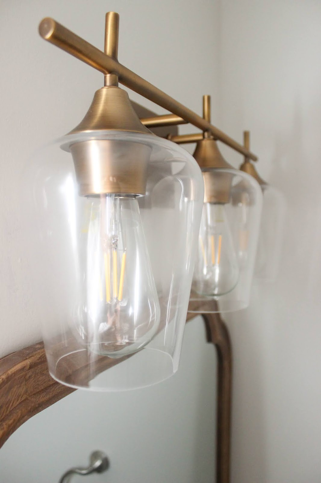 warm brass light fixture