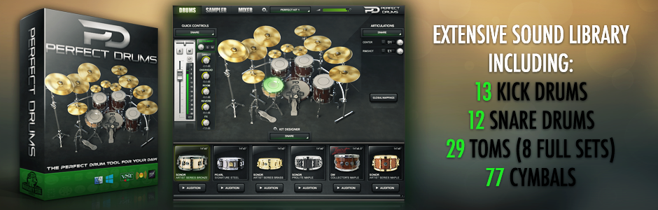 Perfect Drums by Naughty Seal Audio 1.6 Windows & Mac Download