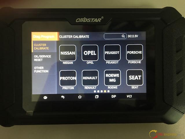 OBDSTAR ODO MASTER car list